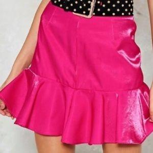 Nasty Gal pink skirt